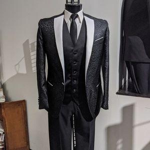 Black Swirl 3pc Suit